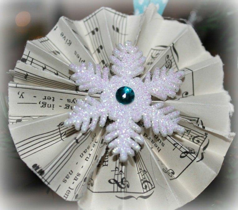 adorno navidad forma copo nieve
