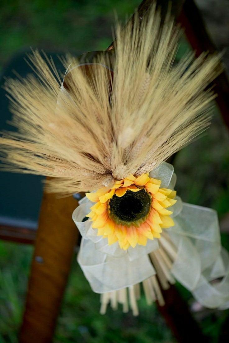 adorno silla flor girasol deco