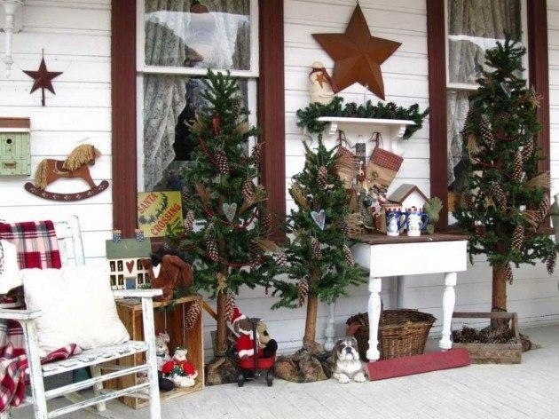adornos navidad mesa exterior
