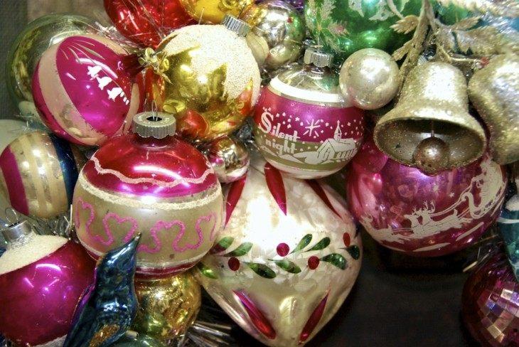 adornos retro bolas navidad colores