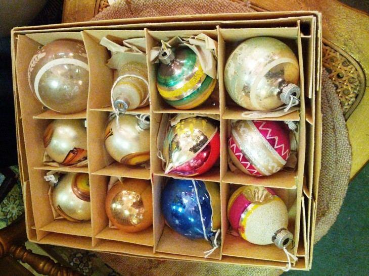 adornos bolas navidad estilo restro