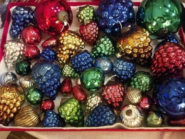 adornos navidades colores brillantes frutas