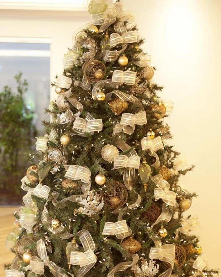 Adornos de navidad negros y oro 35 ideas elegantes - Lazos para arbol de navidad ...