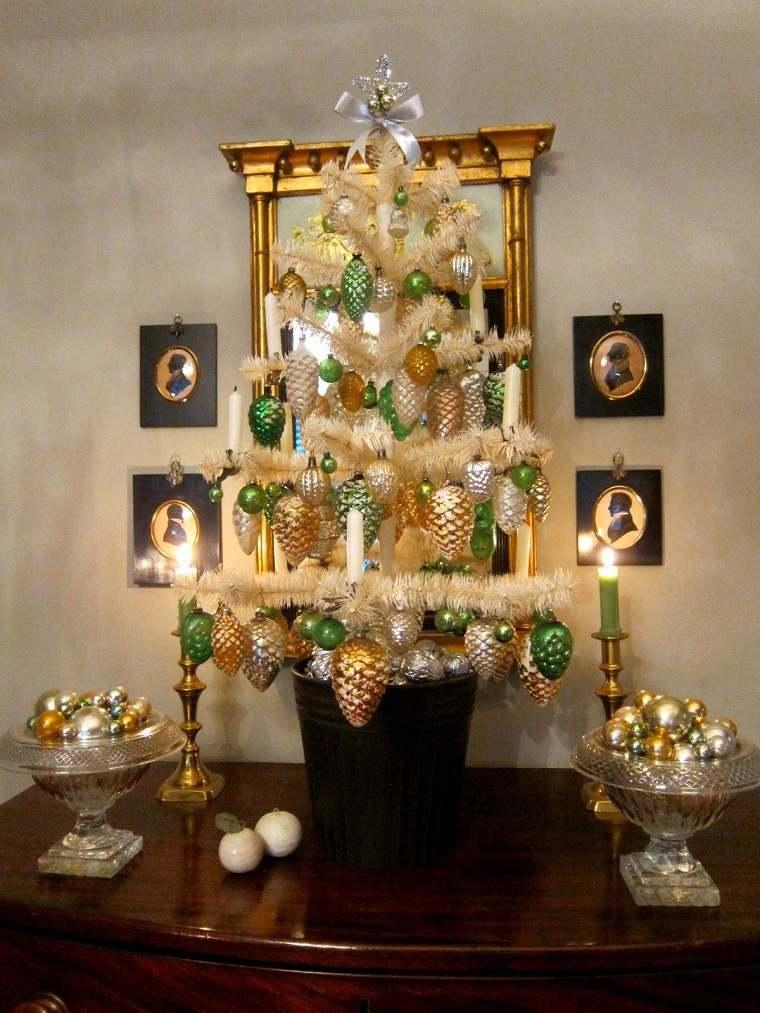adornos navidad negros verde arbol original ideas with arbol de navidad con adornos