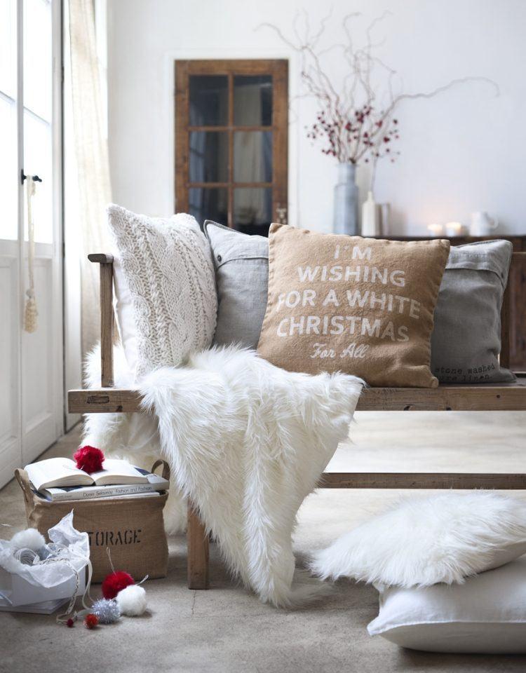 adornos decoracion navideña salon cojines decorativos ideas