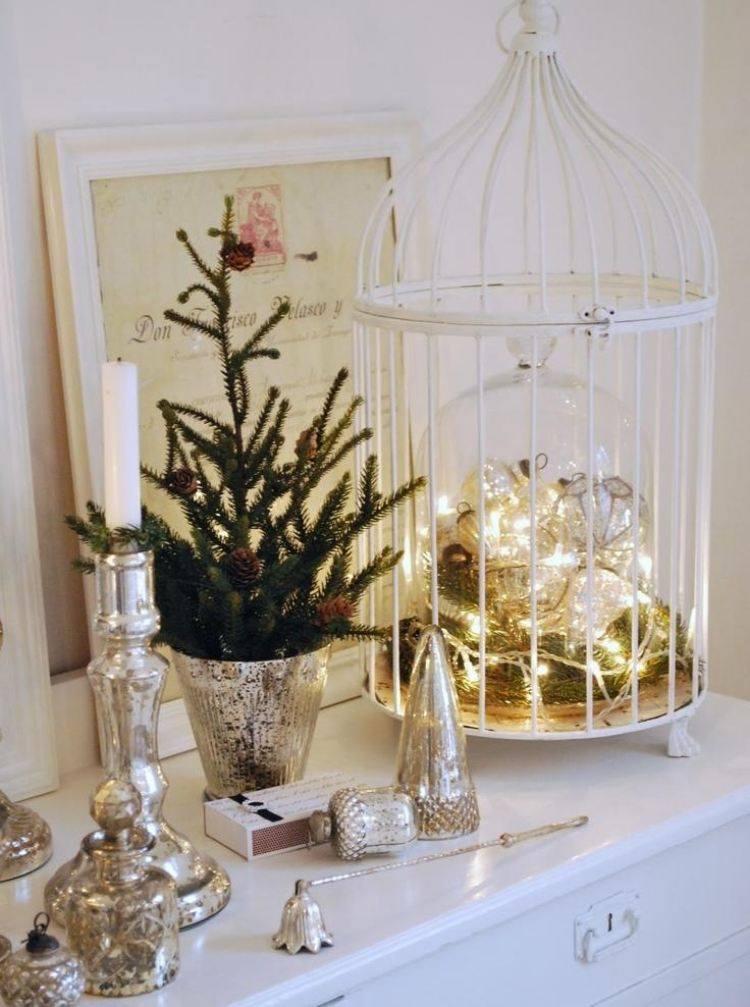 adornos decoracion navidena salon maceta abeto pequeno ideas