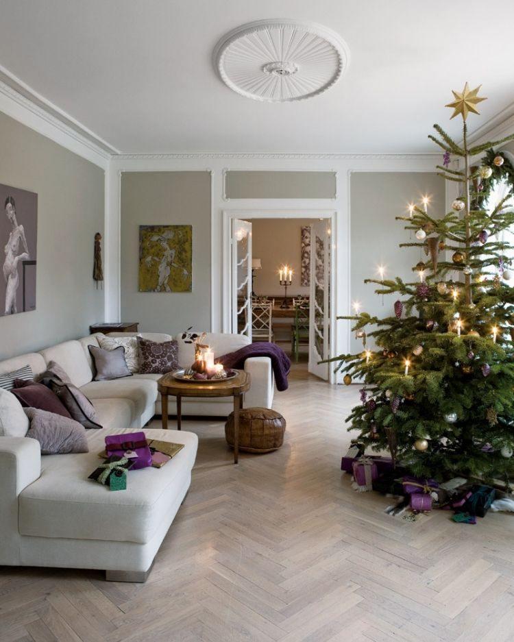 adornos decoracion navideña salon regalos purpura ideas