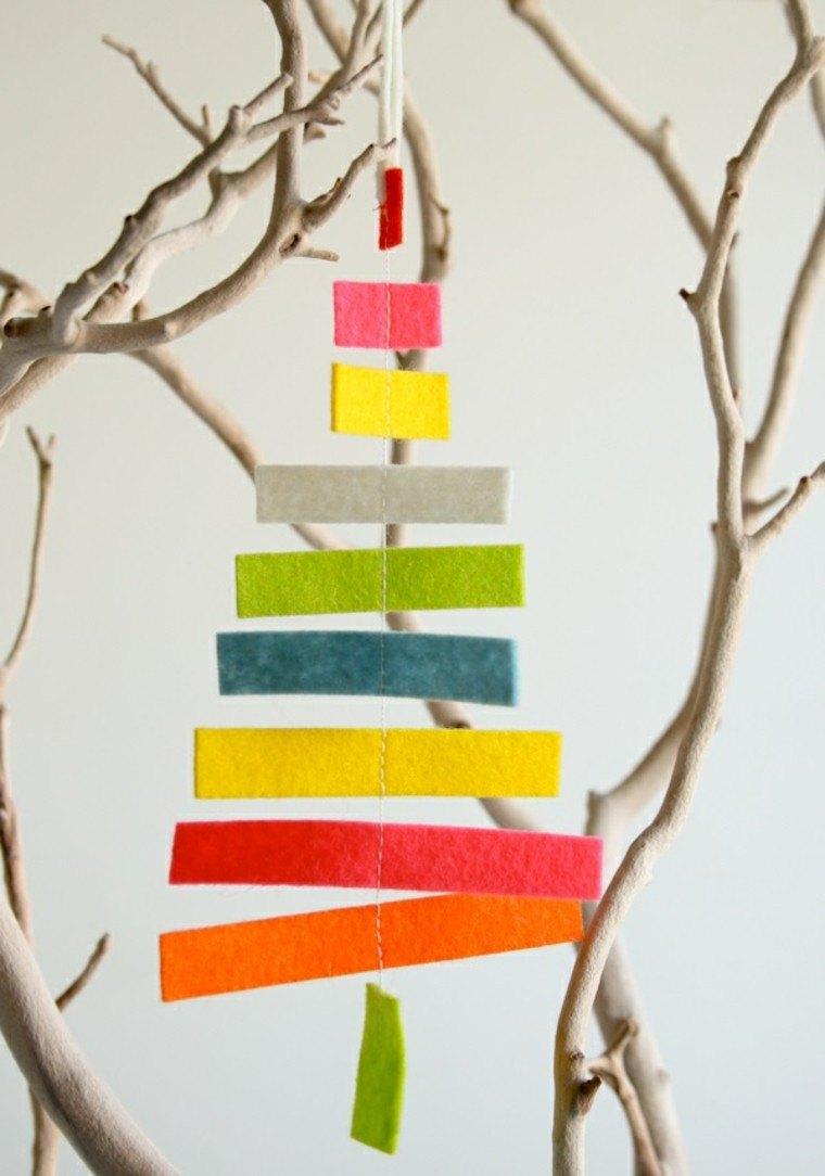 adornos decorativos navidad tejido arbol original ideas