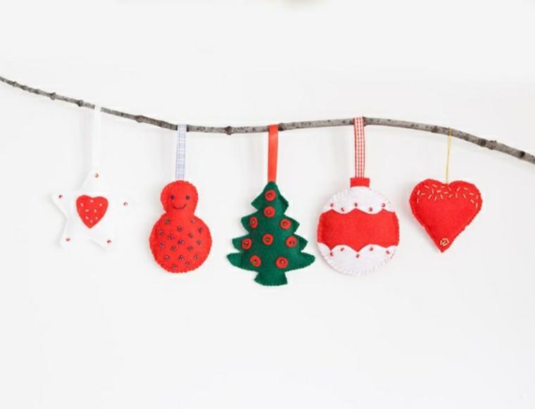 adornos decorativos navidad tejido guirnalda ideas