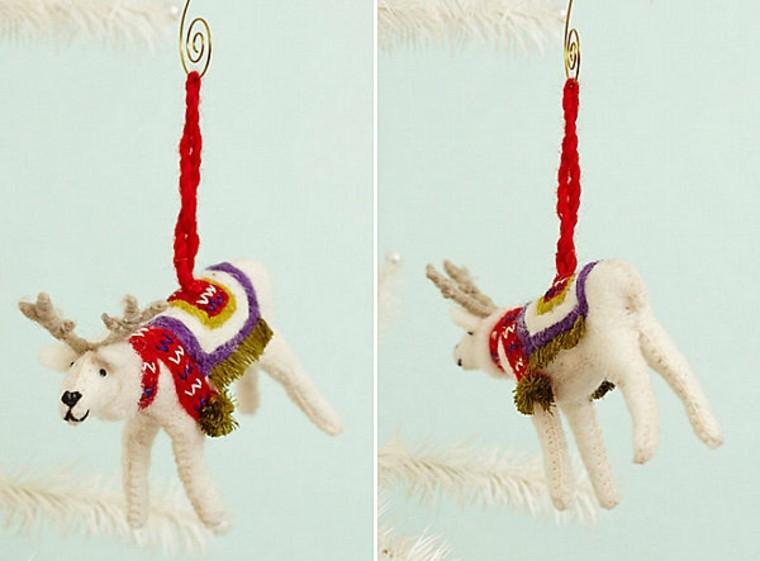 adornos decorativos navidad tejido renos ideas