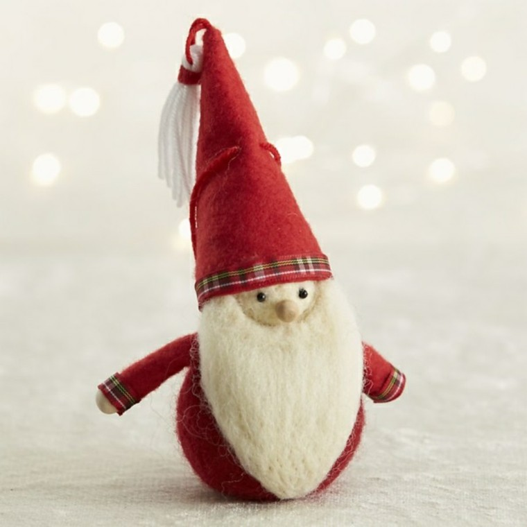 adornos decorativos navidad tejido papa noel ideas