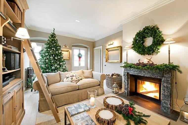 adornos elegantes casa navidad guirnalda arbol navideno ideas