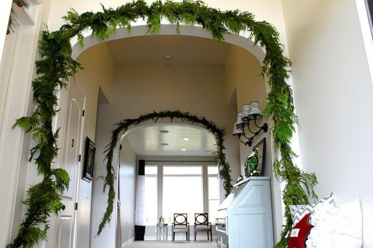 adornos guirnaldas navideñas ramas cipres