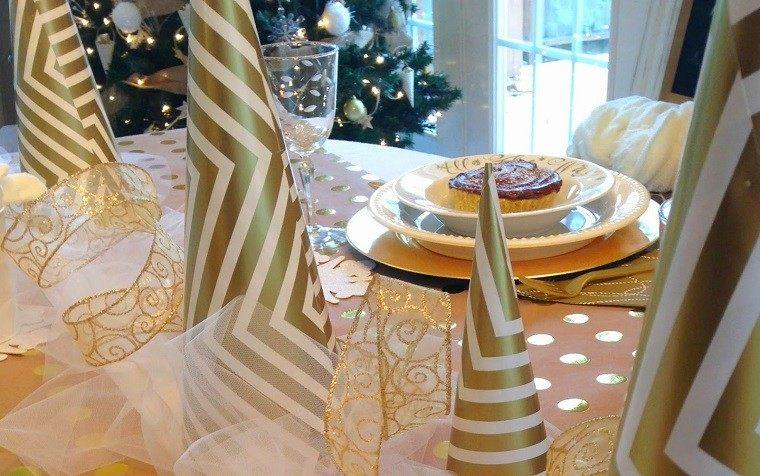 adornos mesa elegante cena navidena casa navidad ideas