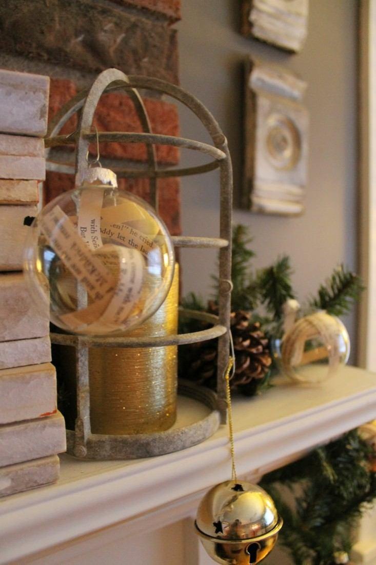 adornos navidad modernos cascabel dorado