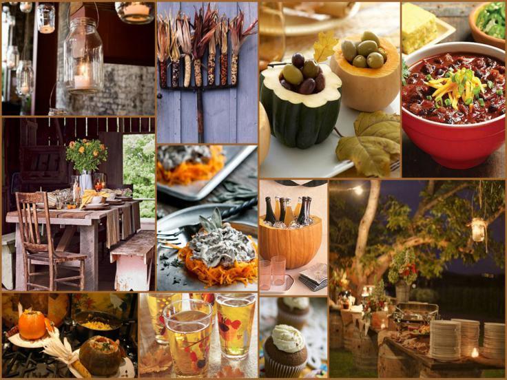 adornos motivos otoño cocina calabazas