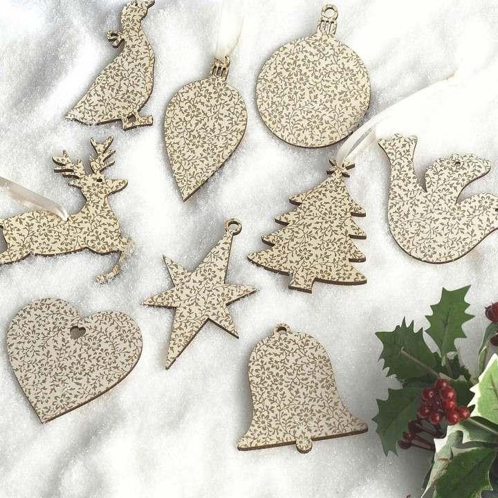 amazing adornos navidad planos estampados flores with adornos de navidad con pias - Adornos De Navidad Con Pias