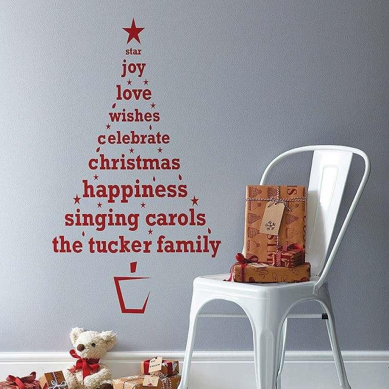 adornos-navidad-estilo-mininalista-arbol-letras-rojas-pared