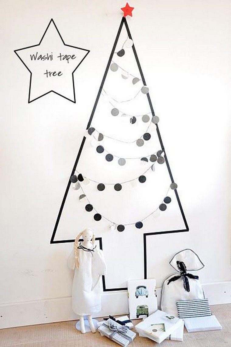 adornos navidad mininalista arbol pared moderno