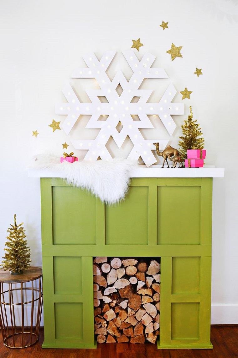 adornos navidad estilo mininalista copo nieve blanco ideas