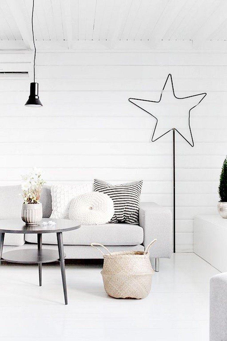 adornos navidad estilo mininalista estrella pared ideas