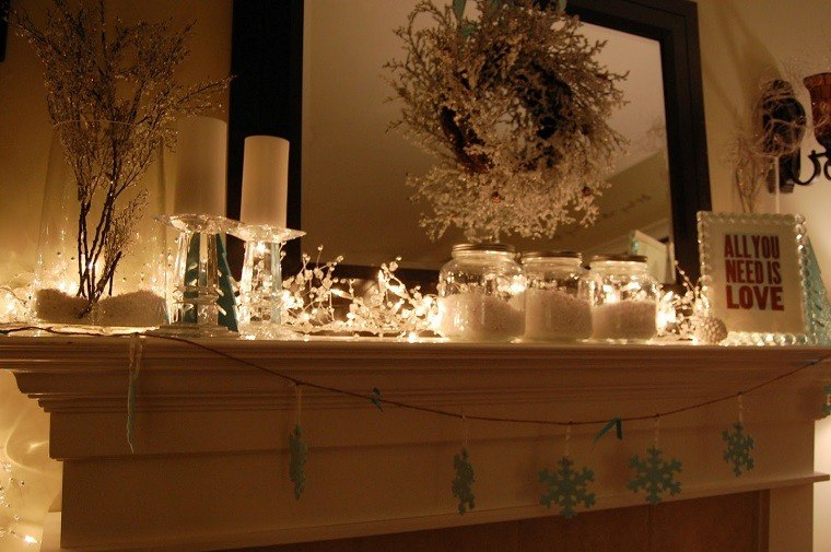 adornos navidad estilo mininalista guirnalda velas ideas