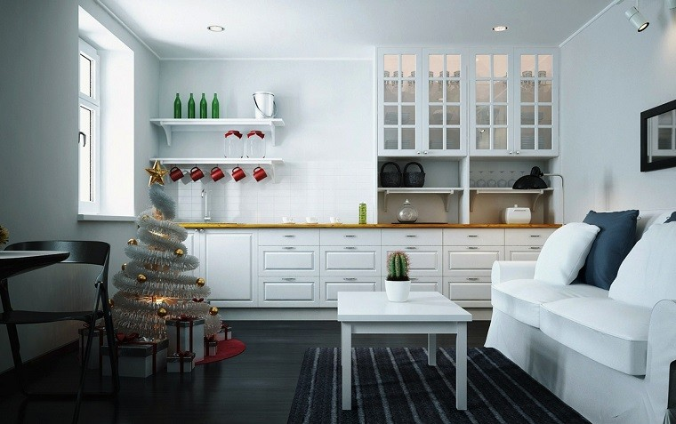 adornos navidad estilo mininalista interesante salon ideas