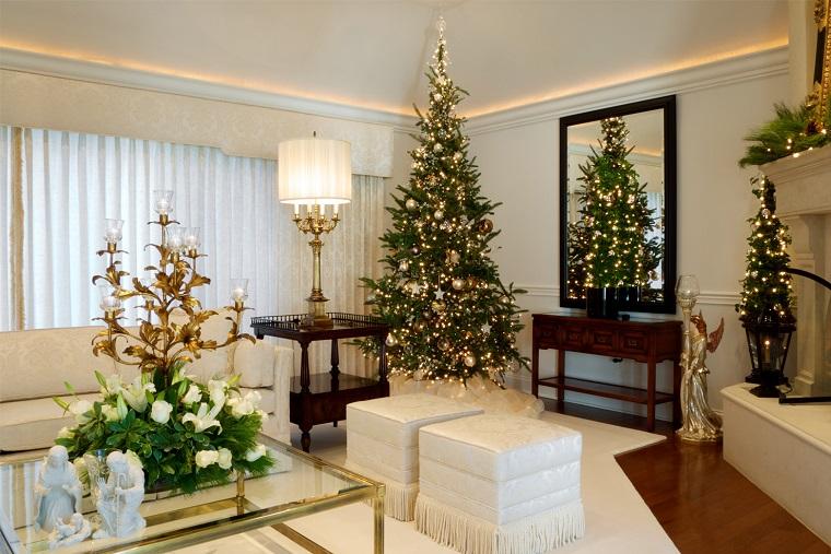 adornos navidad estilo mininalista pocos colores ideas