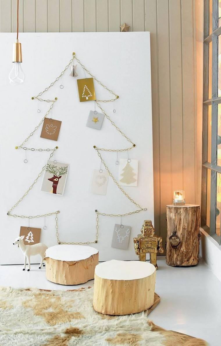 adornos navidad estilo mininalista taburetes madera ideas