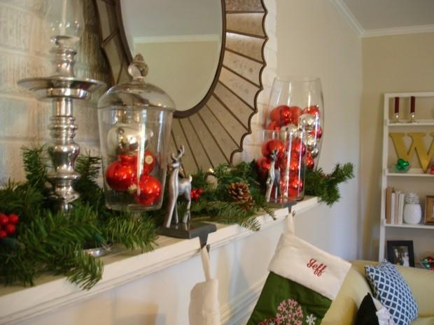 adornos navidad estilo moderno espejo