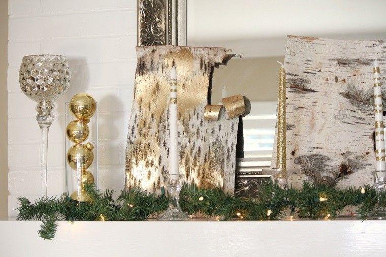 adornos navidad ideas color oro guirnalda ideas