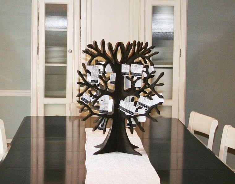adornos navidad ideas estilo mininalista arbol mesa negro moderno
