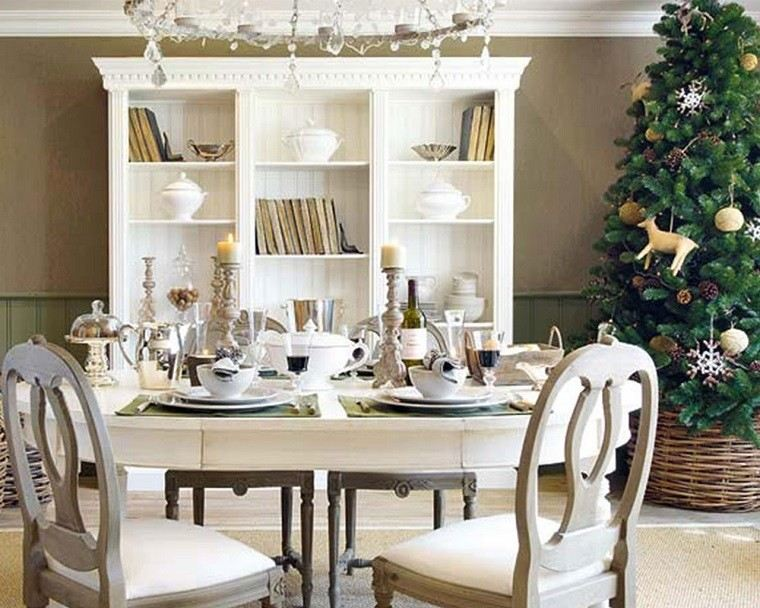 adornos navidad ideas estilo mininalista arbol navidad cesto moderno