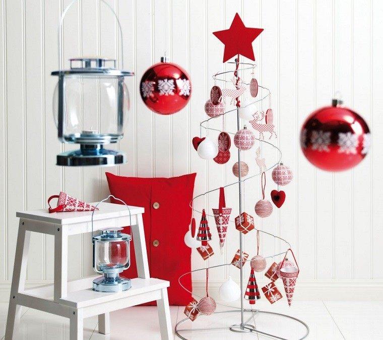 adornos navidad ideas estilo mininalista arbol original moderno