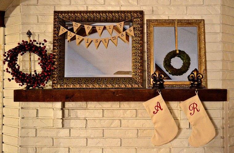adornos navidad ideas estilo mininalista chimenea decorada ideas