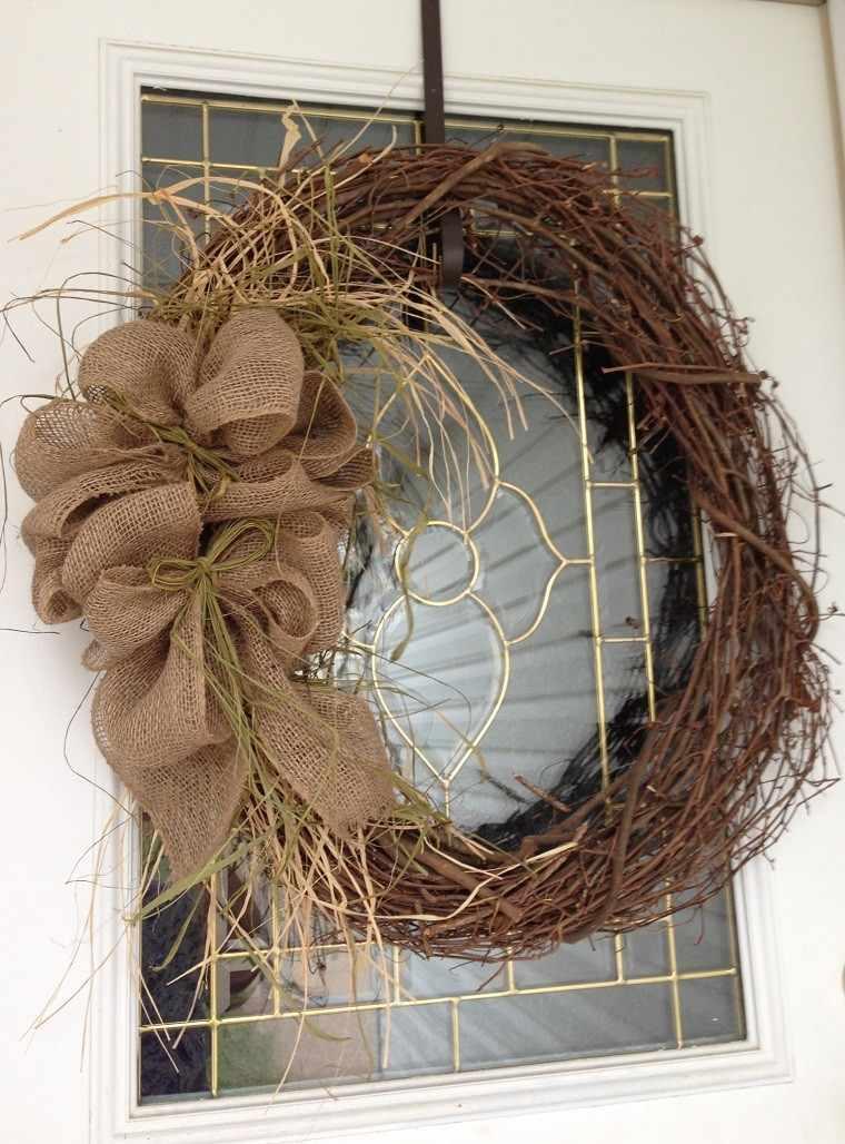 Adornos navidad ideas de decoraci n al estilo minimalista - Arreglo de puertas de madera ...