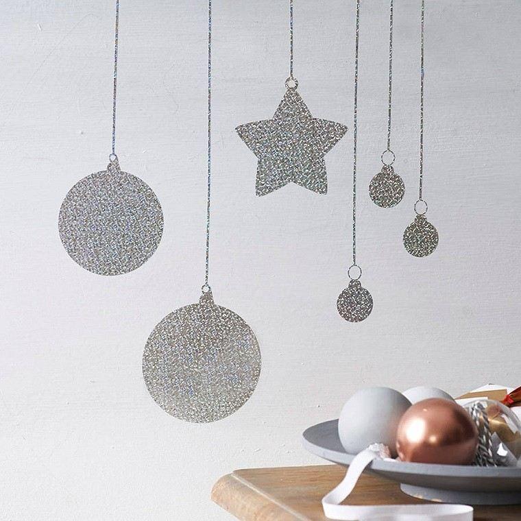 adornos navidad estilo mininalista pintados pared modernos