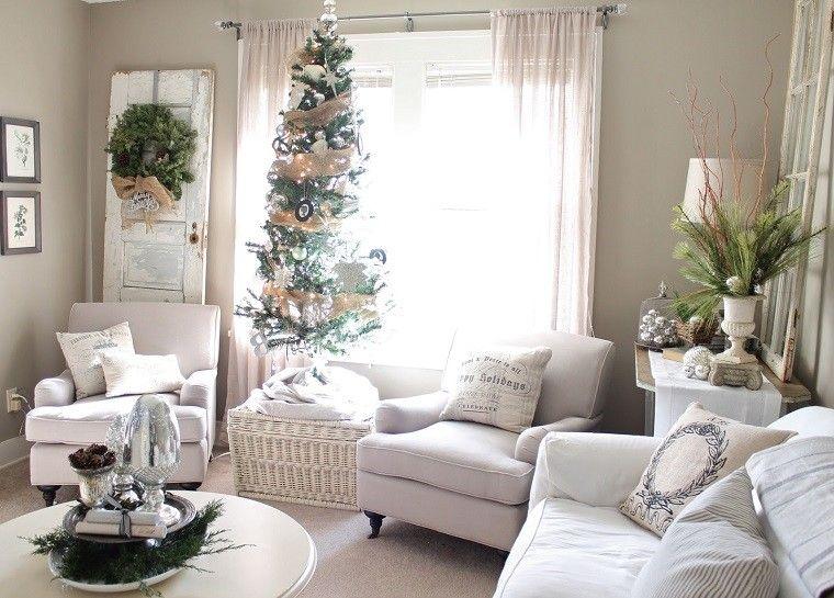 adornos navidad ideas mininalista puerta guirnalda moderno