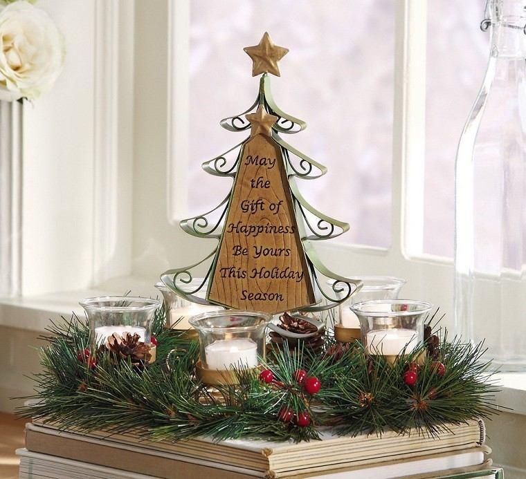 adornos navidad mininalista velas ramas moderno