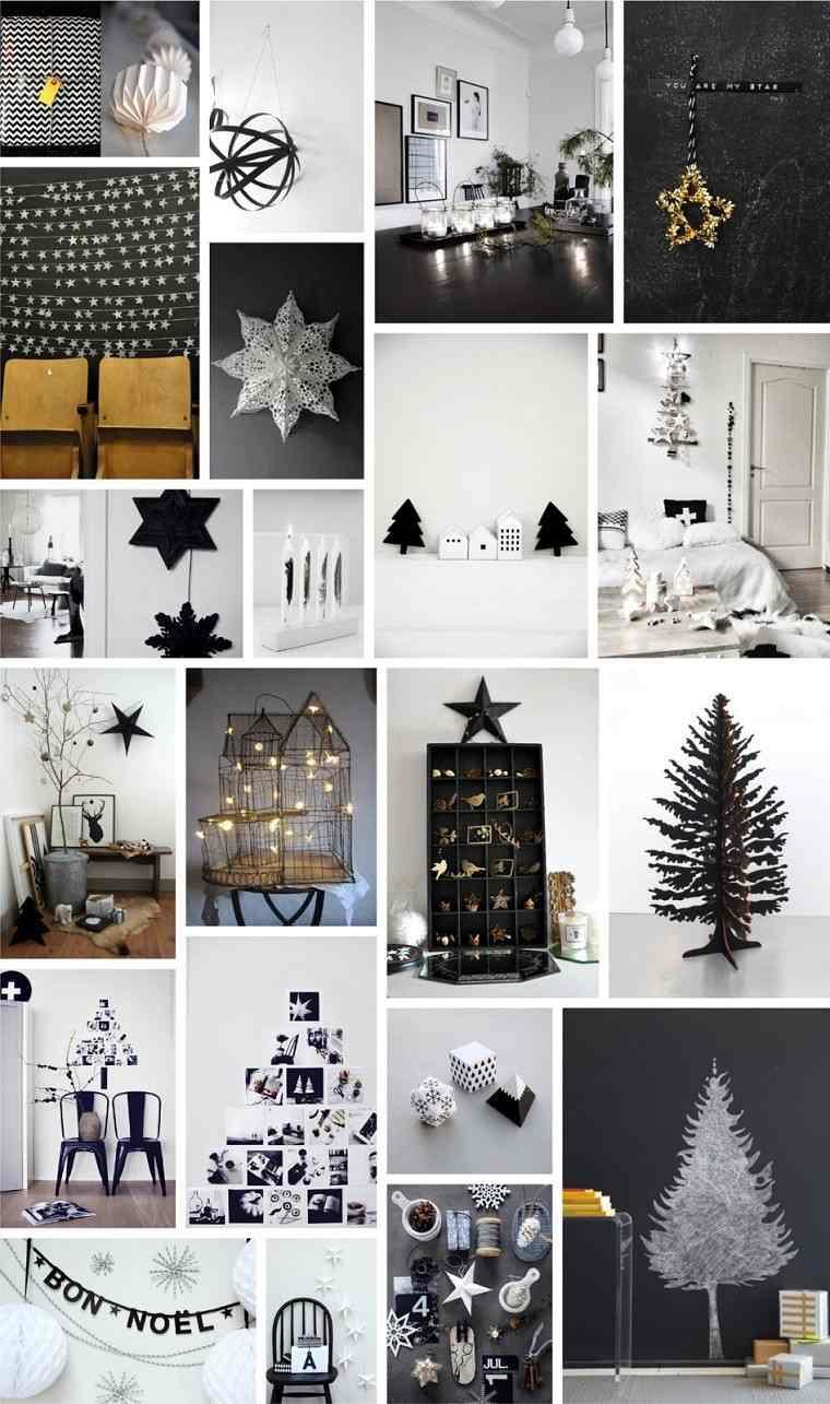 adornos navidad negros arbol estrella oro ideas