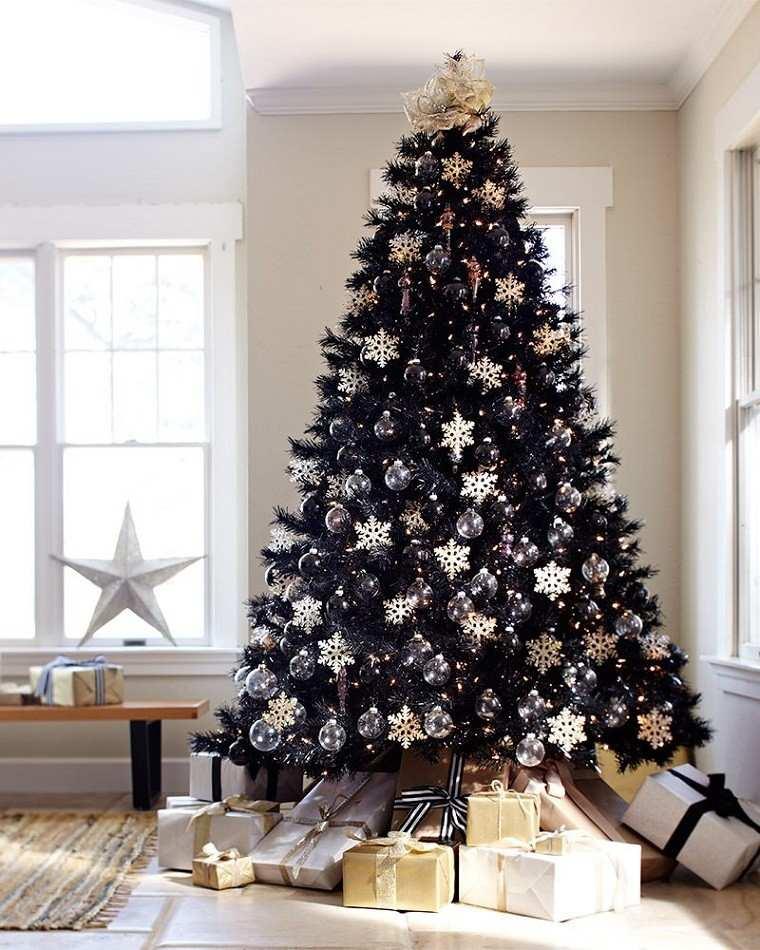 adornos navidad negros arbol grande negro ideas
