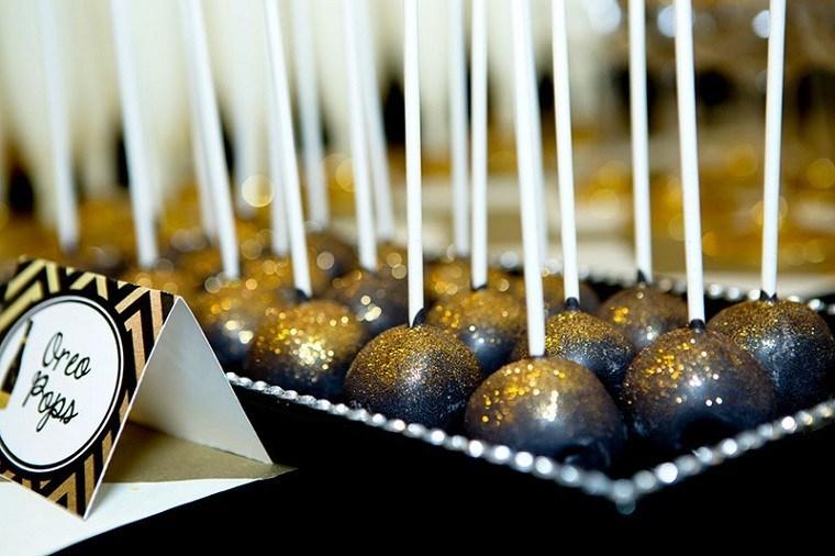 adornos navidad negros bolas comida navidena ideas