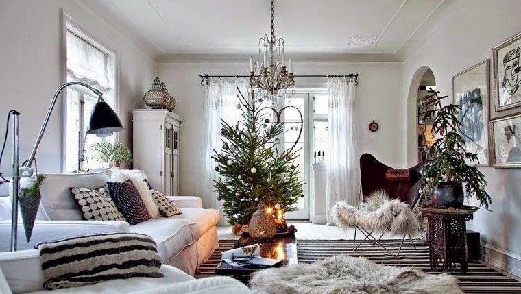 adornos navidad negros salon decoracion negra ideas