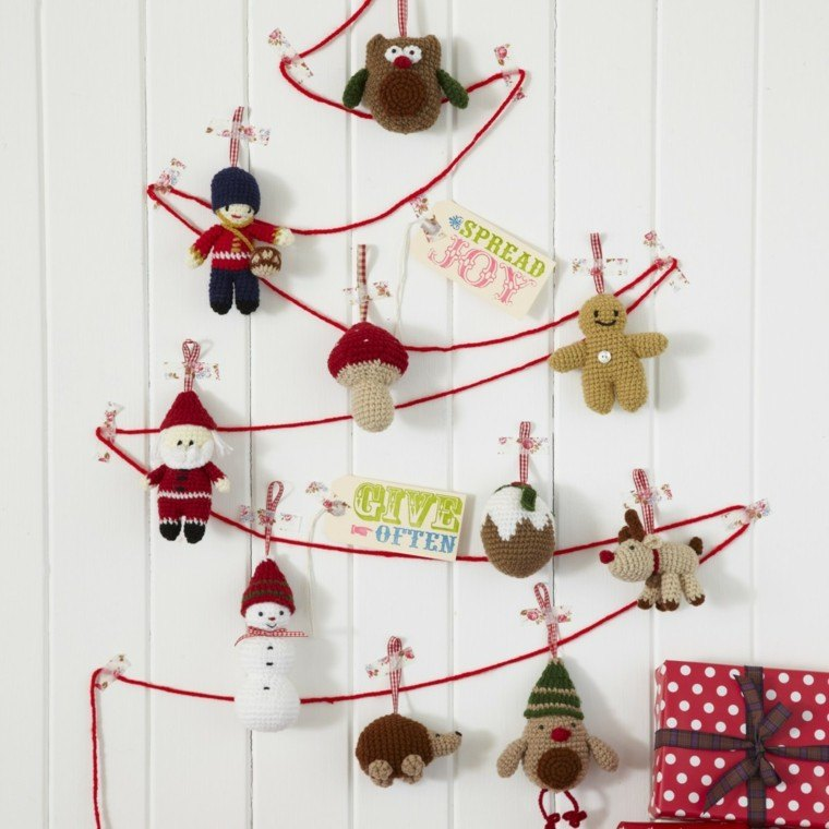 Knitted christmas decorations for sale ciupa biksemad - Adornos para casa ...