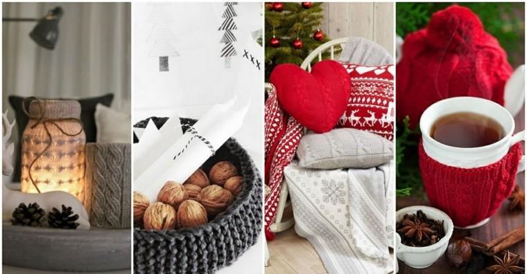 adornos navidad tejidos lana baso sillla ideas