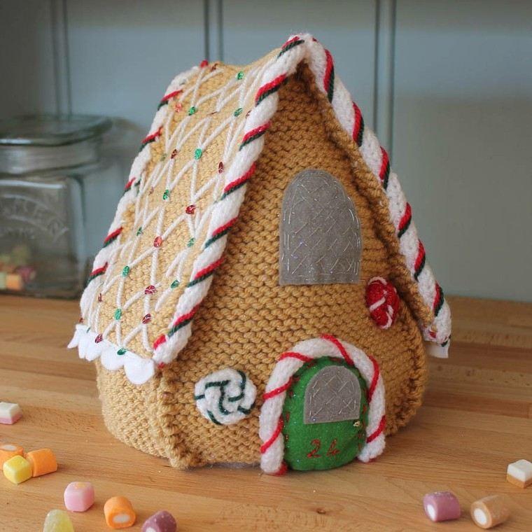 Adornos navide os tejidos de lana para decorar la casa - Adornos navidenos para hacer en casa ...
