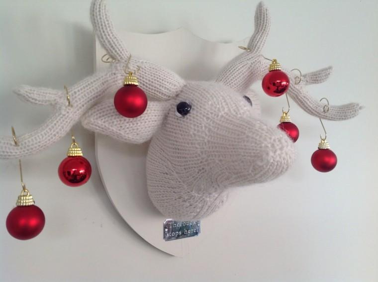 adornos navidad tejidos lana reno bolas ideas