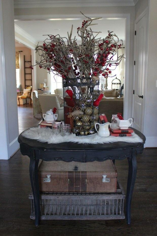 adornos navidad madera seca