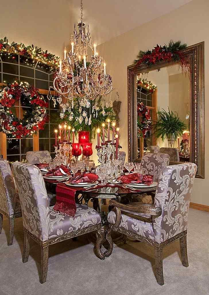adornos navidad estilo lujoso