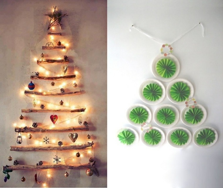 adornos navideños ideas paredes luces